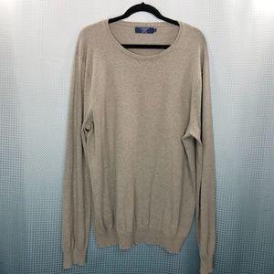J. Crew Tan Cotton Blend Crewneck Sweater